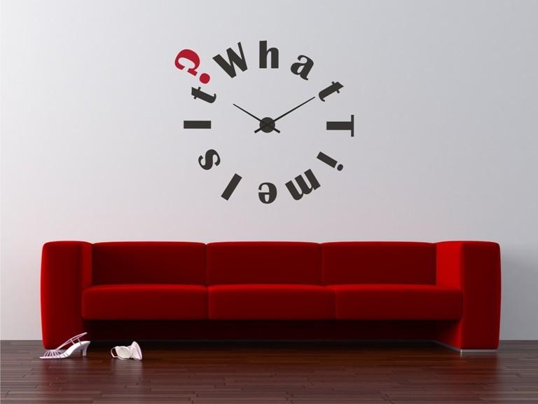 Vinilo para reloj de pared peliculas art culos de decoraci n espejos - Decoracion relojes de pared ...