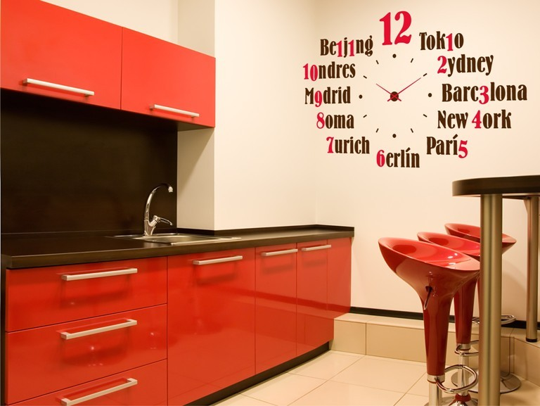 Reloj De Pared Con Vinilo Decorativo
