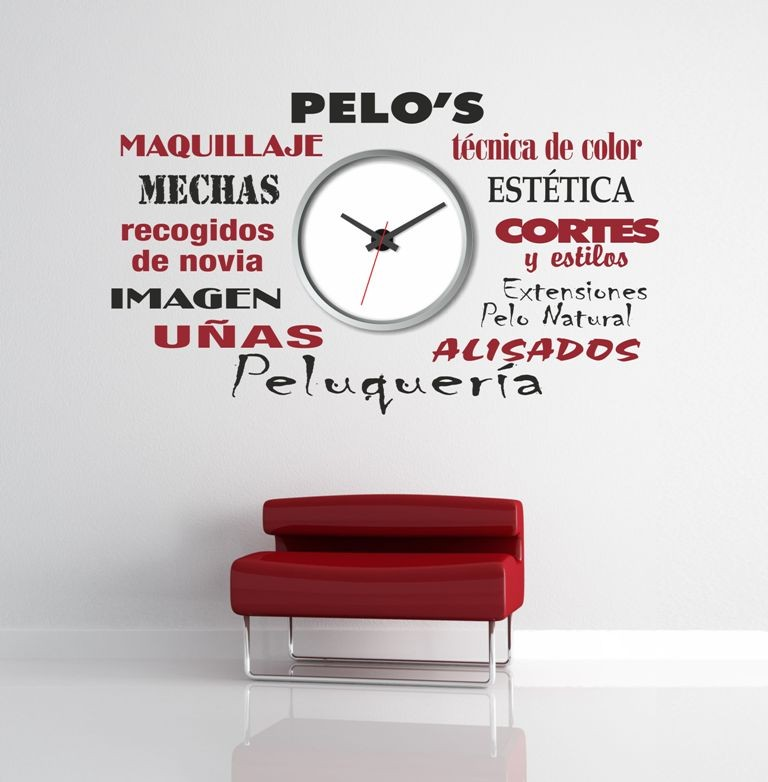 Vinilo personalizable para reloj de pared decoratessen for Precio vinilo pared
