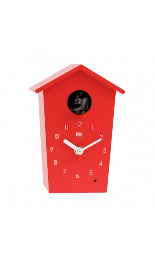 RED CUCKOO CLOCK - ANIMAL HOUSE