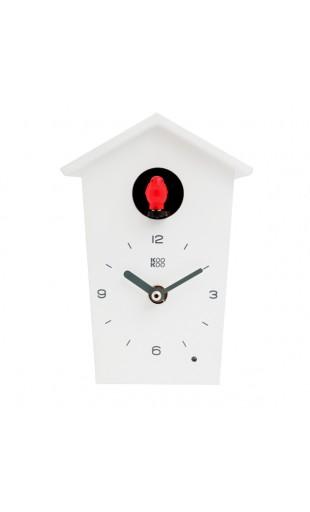 WHITE CUCKOO CLOCK - KOOKOO BIRDHOUSE MINI