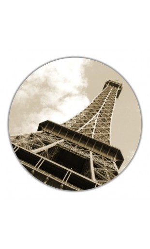 ROUND PAINTING EIFFEL TOWER 1