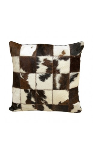 BULL HAIR LEATHER CUSHION 1