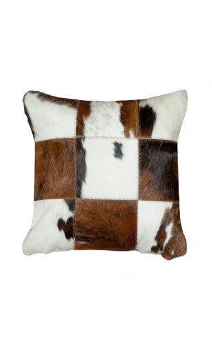 BULL HAIR LEATHER CUSHION 2