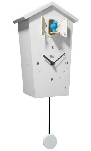 WHITE CUCKOO CLOCK - KOOKOO BIRDHOUSE