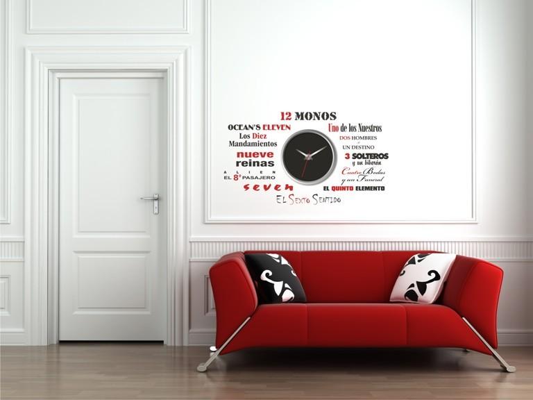 Vinilo para reloj de pared peliculas - Relojes de pared originales decoracion ...