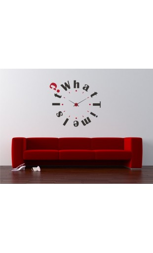 VINILO PARA RELOJ DE PARED WHAT