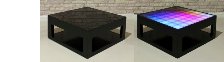 TABLE BASSE AVEC LED MYPIXEEK
