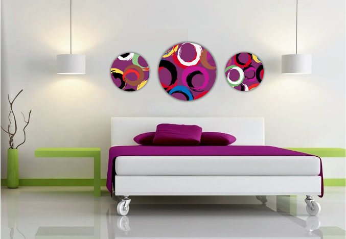 Cuadros metacrilato con formas irregulares decoratessen for Cuadros alegres para salon