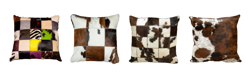 Bull leather cushions